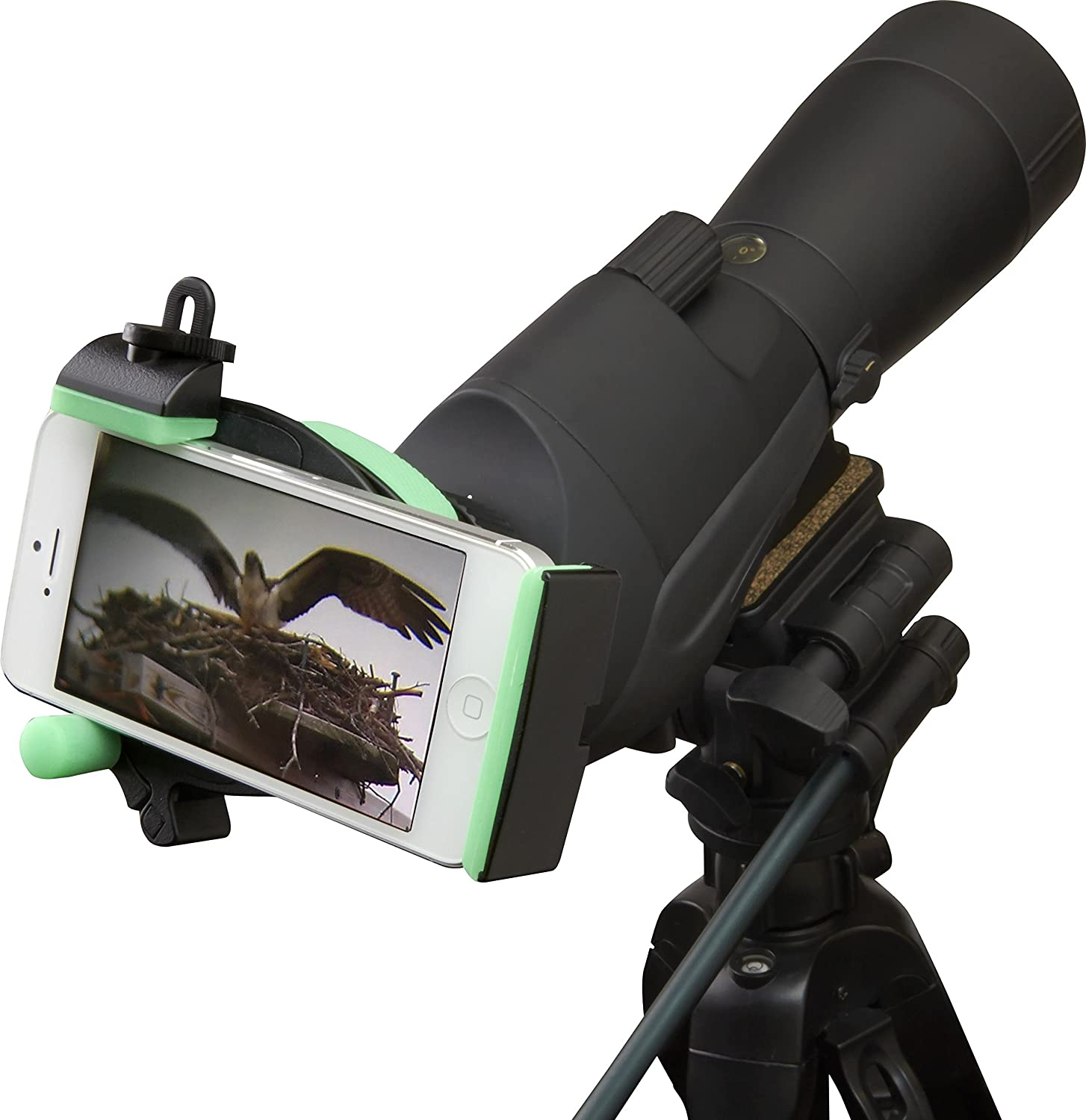 Carson HookUpz Universal Smart Phone Optics Digiscoping Adapter For Binoculars Spotting Scopes Monoculars Telescopes Microscopes and More (IS-100) at Amazon.com
