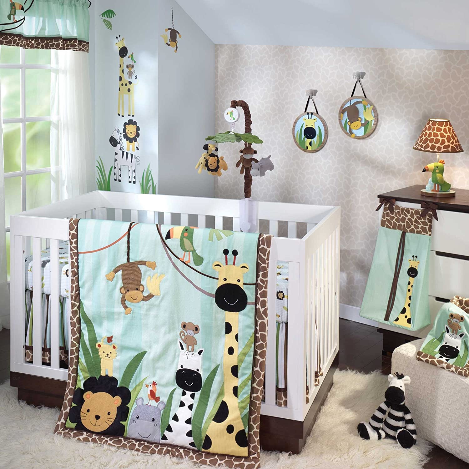 Lambs and Ivy Peek a Boo Jungle Crib Bedding