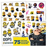 Despicable Me Tattoos - 75 Assorted Minions & Favorite Despicable Me 3 Characters Temporary Tattoos