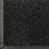 WaterHog Eco Commercial-Grade Entrance Mat, Indoor/Outdoor Black Smoke Floor Mat 5' Length x 3' Width, Black Smoke by M+A Matting