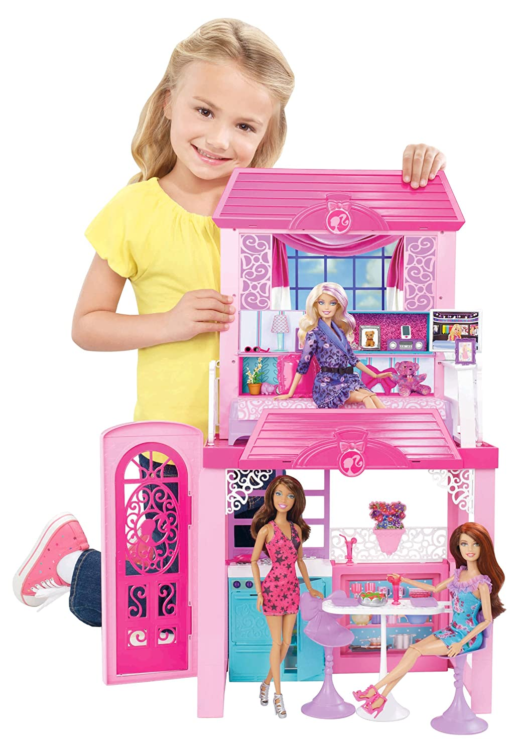 barbie glam vacation house barbie doll house new ebay. Black Bedroom Furniture Sets. Home Design Ideas