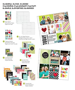 me & my BIG ideas Pocket Pages Scrapbook Page Kit, Family Time, 12-Inch by 12-Inch (?hree P?ck) (Tamaño: ?hree P?ck)