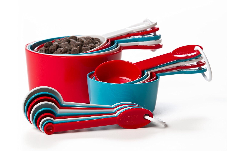 prepworks from progressive international 19 piece measuring cup and spoon set ebay. Black Bedroom Furniture Sets. Home Design Ideas