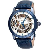 Stuhrling Original Men's 228.33L5C3 Symphony Saturnalia Brumalia Mechanical Skeleton Blue Watch