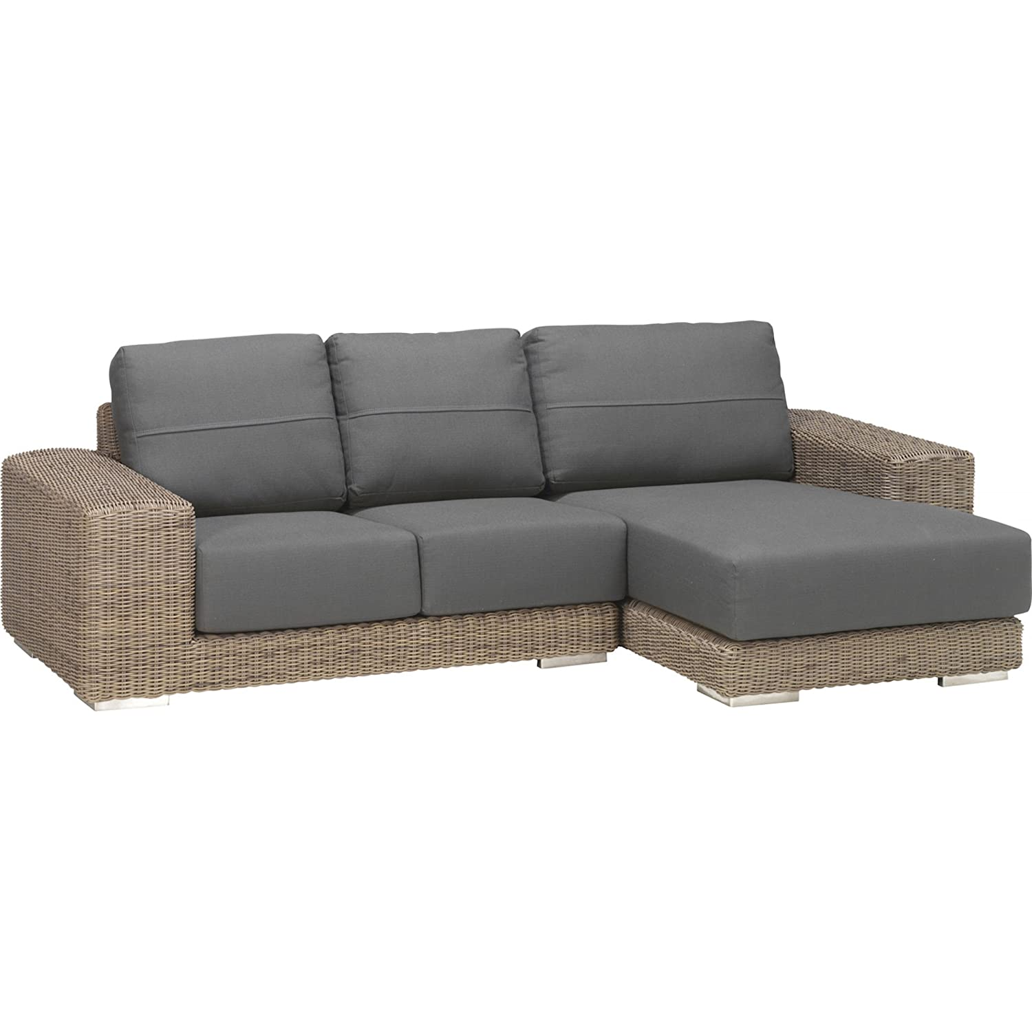 4Seasons Outdoor Kingston 2-teilige Loungegruppe Polyrattan pure inkl Kissen