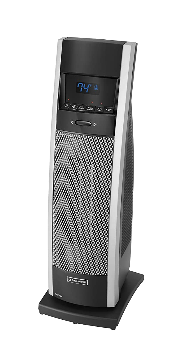 Holmes BCH9212R-NU Bionaire Remote Control Tower Heater with Remote, Medium, Black