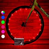 Super Cool Bicycle Tire Lights (2 Wheels, Red) Hot LED Bday Gift Ideas & Christmas Presents - Popular Black Friday and Cyber Monday Deal for Men, Women, Kids & Fun Teens - Cheap Discount Sale
