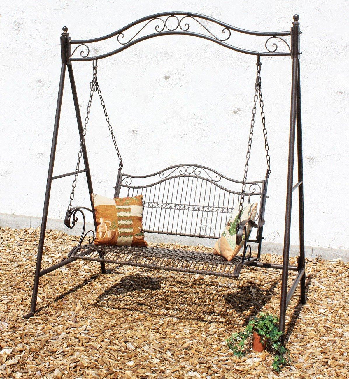 Schaukel 082505 Hollywoodschaukel aus Metall Schmiedeeisen Gartenschaukel online kaufen