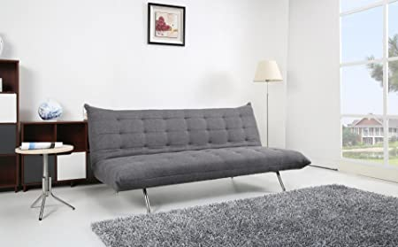 Pedro Schlafcouch Stoff dunkelgrau Schlaffunktion Sofa
