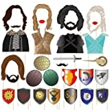 BBGparty 22/31 Pieces Game of Thrones Photo Booth Props for Party Celebration(31 Pieces) (Color: 31 PIeces)