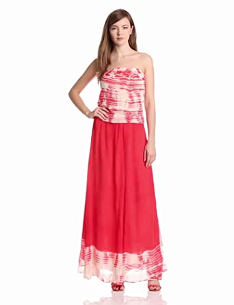 Gypsy 05 Women's Miyoshi Silk Tube Dress, Cherry/Cream, Small