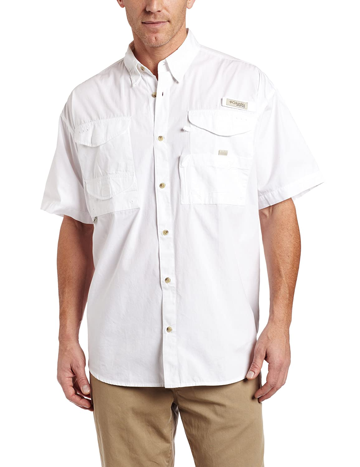 Columbia Men&#8217;s Bonehead Short Sleeve Shirt,White,X-Large $24.69