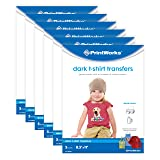 """Printworks Dark T-Shirt Transfers for Inkjet Printers, for Use on Dark and Light/White Fabrics, Photo Quality Prints, 6-Pack (30 Sheets), 8 ½"""" x 11"""" (00529C) (Color: Dark, Tamaño: 30 Sheets)"""
