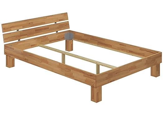 Moderno telaio letto/futon 140x200 in Faggio Eco laccato privo di doghe e materasso 60.80-14 oR
