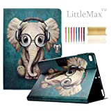 iPad 9.7 2017 / Air / Air 2 Case, LittleMax(TM) Ultra Slim PU Leather Lightweight Case Flip Folio Stand Smart Cover with Auto Wake / Sleep for Apple iPad 9.7 Inch 2017, Air 1 2 - # Elephant (Color: # Elephant)