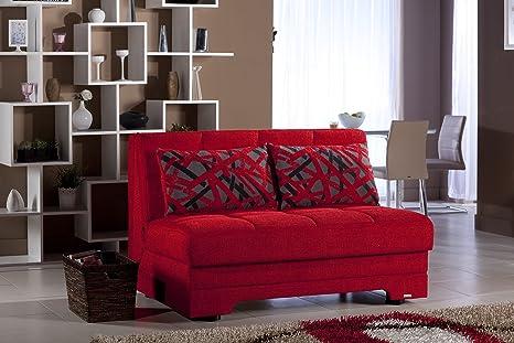 Istikbal - Twist Love Seat Sleeper - Story Red - Full Sleeper