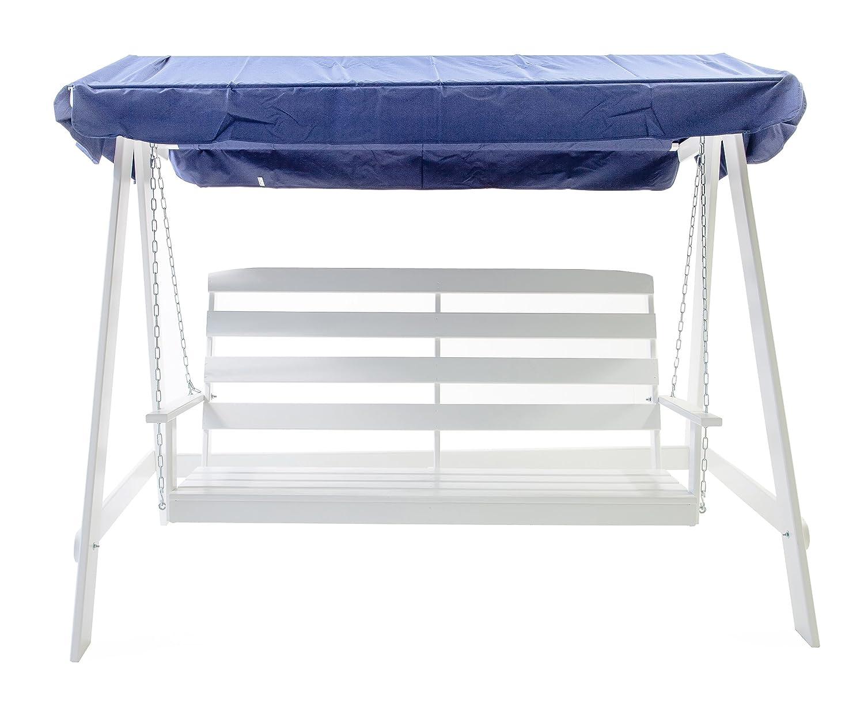 Ambientehome Hollywoodschaukel 3-Sitzer Holzschaukel Schaukel Massivholz VETLANDA, Weiß günstig online kaufen