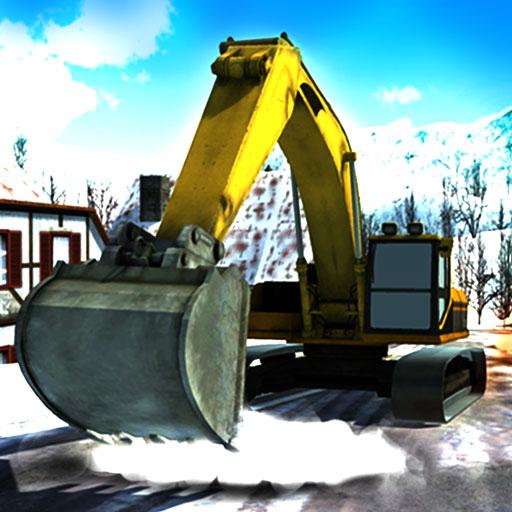 starke-schneefalle-bagger-kran-simulator-3d
