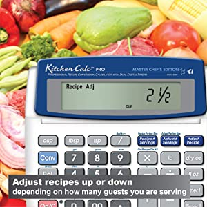 Calculated Industries KitchenCalc 8305 PRO Master Chef Edition Recipe Conversion Calculator with Dual Digital Timer (Color: Silver)