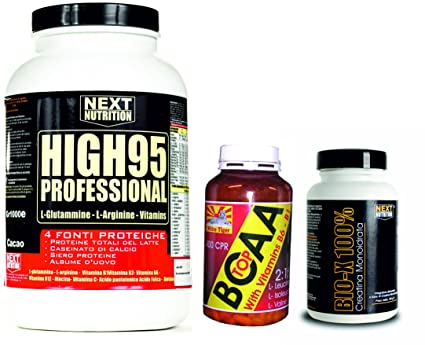 Protein Supplements Kit Hygh 95 Vanilla GR1000 BCAA Creatine 100CPR GR100