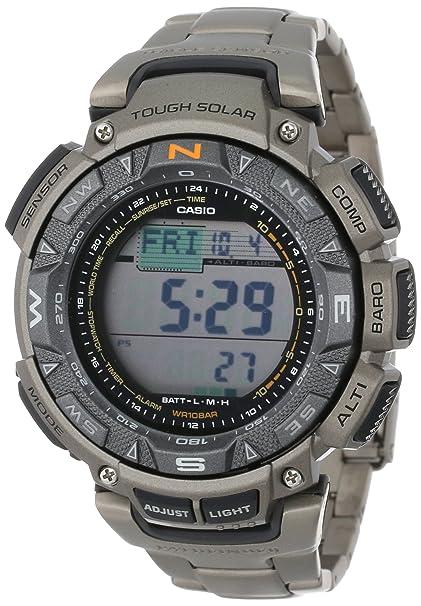 Casio Men's PAG240T-7 卡西欧 探险者 户外手表 三重感应器 钛合金表壳表带-奢品汇 | 海淘手表 | 腕表资讯
