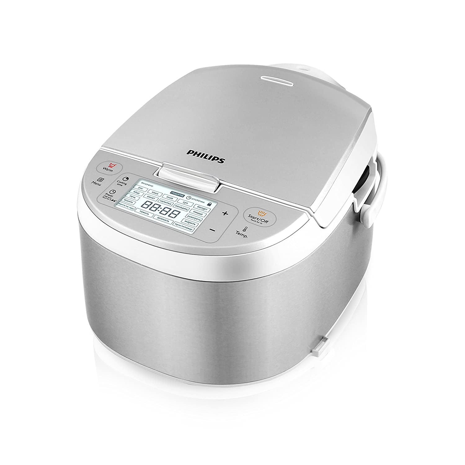 New Philips HD3095/87 Electric Multi-Cooker, Stainless Steel/White