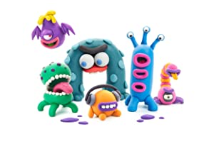 Hey Clay Aliens - Colorful Kids Modeling Air-Dry Clay, 18 Cans with Fun Interactive App