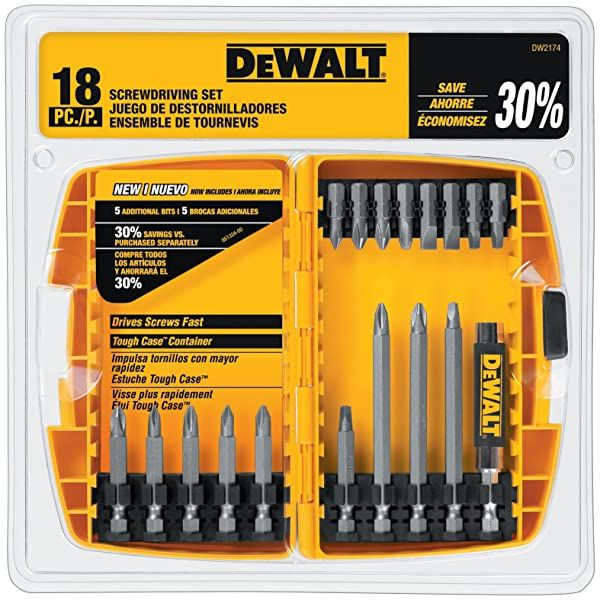 DEWALT DW2174 18-piece DEWALT Screwdriving Set (Color: Silver)