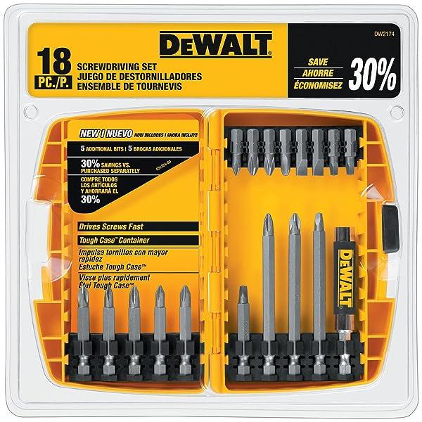 DEWALT DW2174 18-piece DEWALT Screwdriving Set (Color: Silver)
