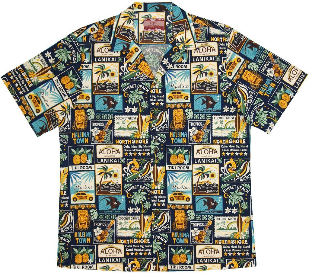 RJC Men's Vintage Islands Hawaiian Shirt 0