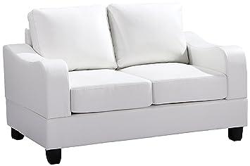 Glory Furniture G627-L Living Room Love Seat, White
