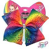 Jojo Siwa Girls Big Bows - Jojo's Sweet 16 Birthday Collection, Rainbow with Gems (Color: Rainbow with Gems)