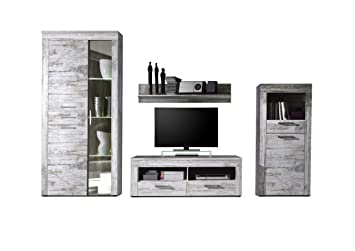 now the price for click the link below to check it trendteam 1276 947 68 wohnzimmerschrank wohnwand anbauwand river weiss canyon pinie shabby chic dekor