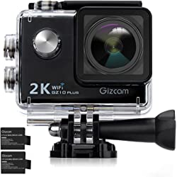 Gizcam GZ10 2K 1080P 16MP Plus Action Camera with Accessories Kits