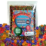 Sooper Beads Water Beads Rainbow Mix, 16 oz (45,000 beads) for Orbeez Spa Refill, Sensory Toys, and Décor (1 Pound)