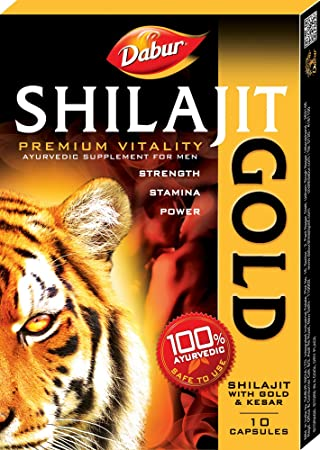 Dabur Shilajit Gold   10 Capsules available at Amazon for Rs.130
