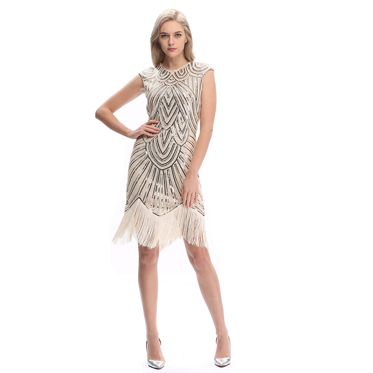 Pilot-trade Women's 1920's Dress Flapper Vintage Great Gatsby Charleston Party Dress 1