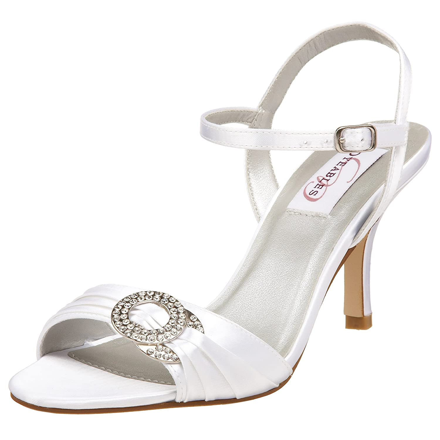 tiny bubbles wedding shoes update white satin