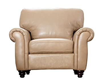Abbyson Living Parks Premium Top Grain Leather Armchair