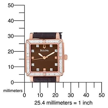 Bulova Women's 98R134 Brown Dial 24 Diamonds Strap Watch 宝路华 女士石英手表 3折低价-奢品汇   海淘手表   腕表资讯