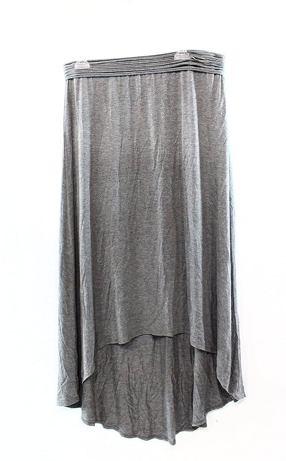 Studio M Women's Jersy High-Low Asymmetrical Hem Skirt