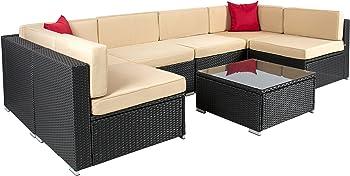 7pc Patio Garden Outdoor Rattan Sofa Set