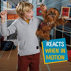 Star Wars Ultimate Co-pilot Chewie Interactive Plush Toy, brought to life by furReal, 100+ Sound-and-Motion Combinations, Ages 4 and Up (Color: Brown, Tamaño: Standard)