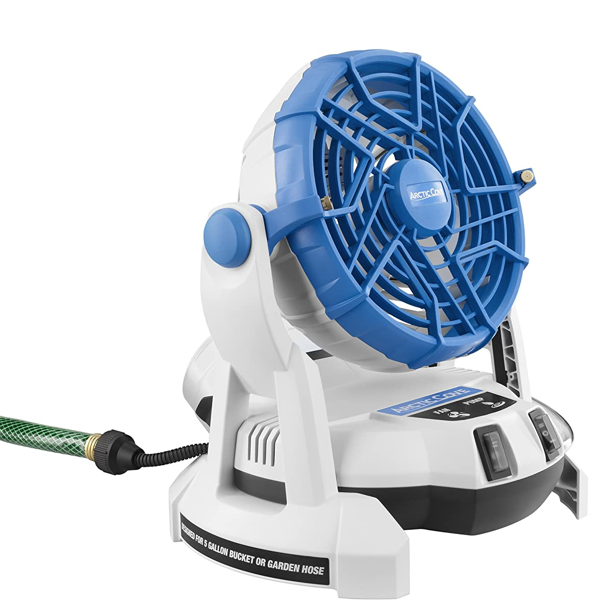 Arctic Cove Mbf0181 18 Volt Two Speed Misting Bucket Top Fan