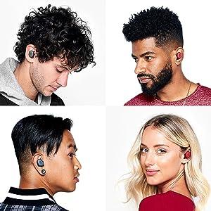 Skullcandy Sesh True Wireless Bluetooth in-Ear Headphones - Black (Color: Black, Tamaño: One-Size)