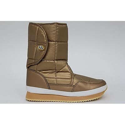 Womens JuJu Joggers Gold Flat Snow Boots Size