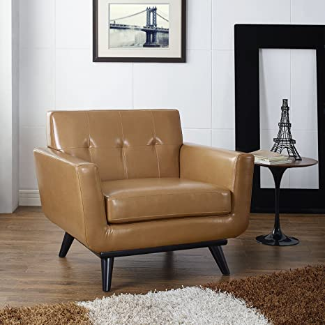 Engage Leather Armchair, Tan