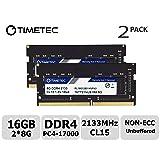 Timetec Hynix IC 16GB Kit (2x8GB) DDR4 2133MHz PC4-17000 Unbuffered Non-ECC 1.2V CL15 1Rx8 Single Rank 260 Pin SODIMM Laptop Notebook Computer Memory RAM Module Upgrade (16GB Kit (2x8GB)) (Tamaño: Single Rank 16GB Kit (2x8GB))