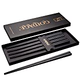 Foster (Goldage) 5-Pairs Fiberglass Dishwasher-safe Chopsticks (Japanese Minimalism - Herb Leaf)