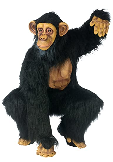 Funworld Mens Funny Monkey Comical Chimp Fancy Dress Animals Costume